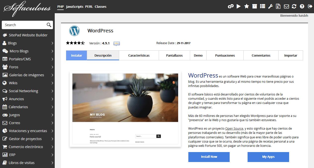 Wordpress Instalador