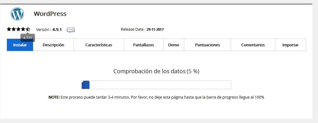 Instalar WordPress WebUp Hosting