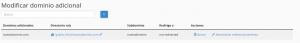 dominio adicional webup hosting