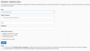 redirige webup hosting