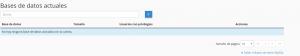 bases de datos webup hosting