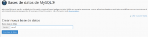 nueva bbdd webup hosting