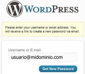 wordpress no coge contraseña