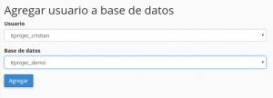 usuaio base de datos webup hosting