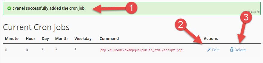 crear cron webup hosting