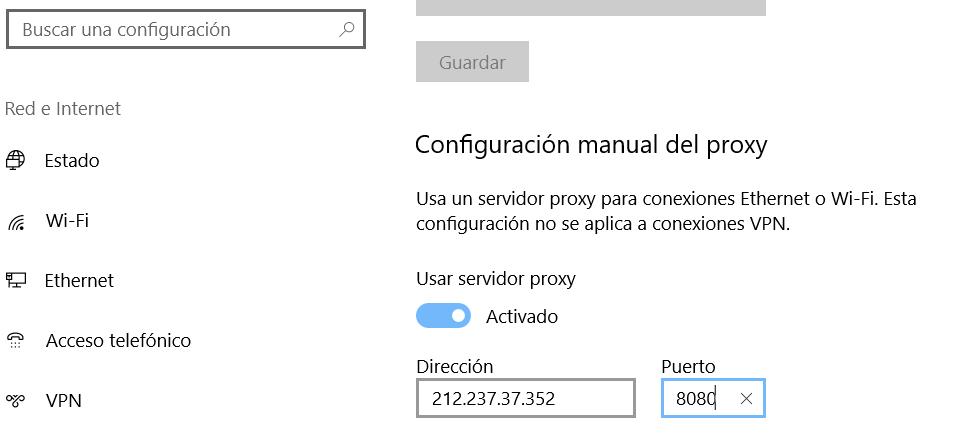 configurar proxy webup hosting