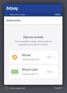 pago tipo bitcoin