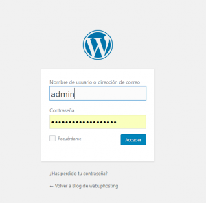 back-end wordpress