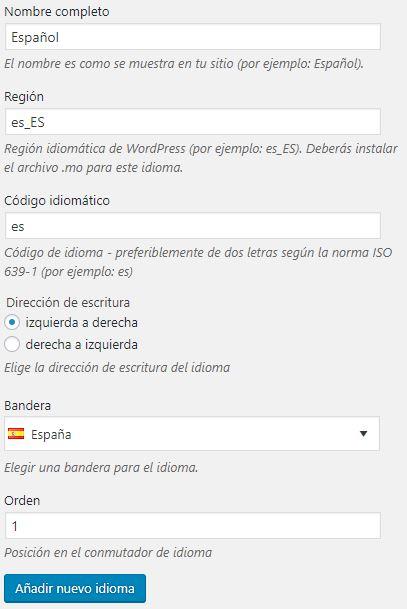 wordpress multilenguaje