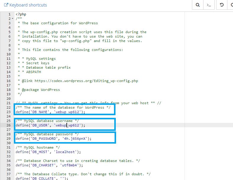 editar wp_config wordpress