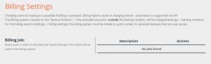 Configuración de facturación